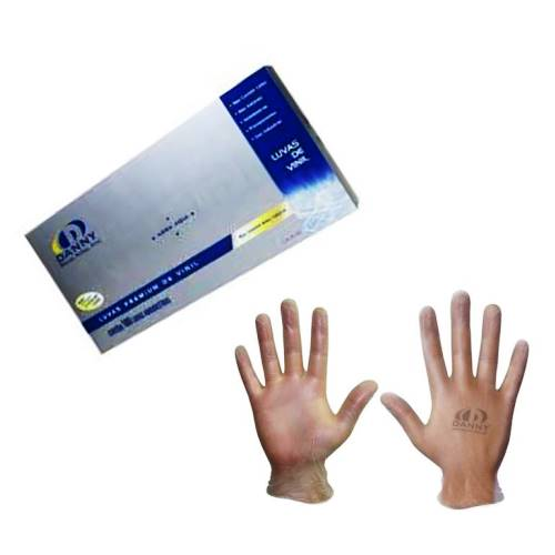 c764123cd9596 Luva de VINIL DANNY - SEM AMIDO - TRANSPARENTE - caixa 100 unidades